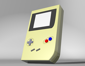 3D asset Low poly Gameboy