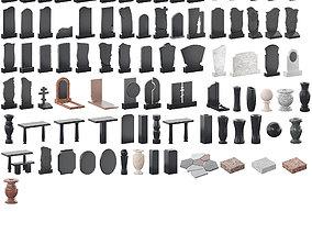 3D Gravestones - 86 models crosses