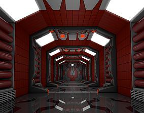 Sci Fi Corridor 3D scene lab