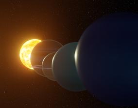 3D model solar system meteorite
