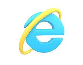 3D model Internet Explorer Logo v1 003