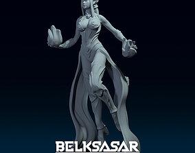 3D print model Female Warlock Tiefling