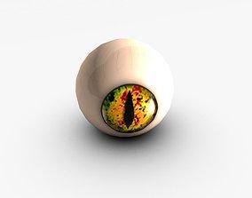 Yellow snake eye 3D asset
