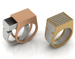 Secret Compartment Ring 2 in 1 3D printable model