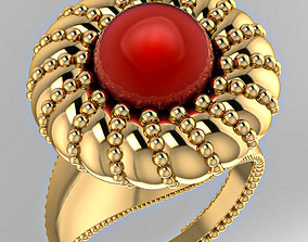 Ring boutique Pearl Bloom 3D print model
