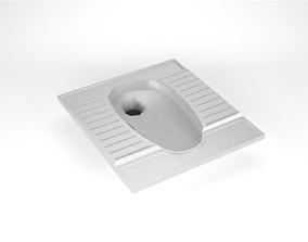 3D asset Squat toilet