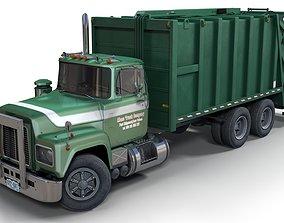 Generic garbage truck 3D asset PBR