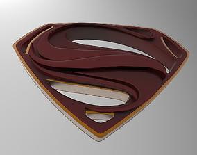 Man of Steel symbol 3D print model