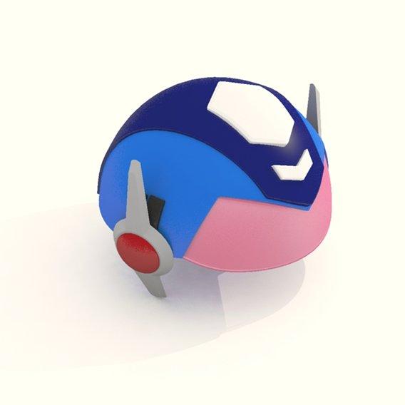 Cartoon Robot Helmet Model CRH8