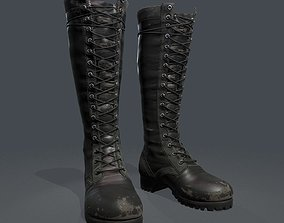 3D model realtime Leather Boots