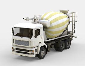 Truck concrete mixer 3D asset