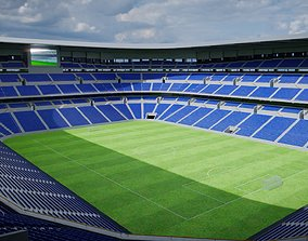 Soccer stadium 3D model low-poly