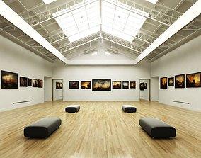 Gallery Exposition Interior 3D model