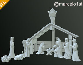 Birth of Jesus or Manger Scene or 3D print model 3