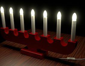 3D model Christmas Advent Lights