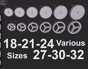 picture regarding Gears Printable named 15 Substitute measurement Gears 3D printable design and style CGTrader