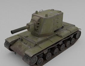 3D asset KV-2 1939 Heavy Assualt Tank