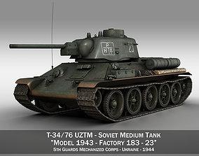 T-34-76 UZTM- Model 1943 - Soviet tank - 23 3D