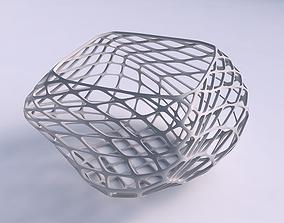 3D printable model Bowl helix with diagonal grid lattice