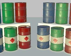 3D asset Chemical Drum Flammable Liquid