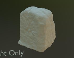 3D model Scanned Road Marking Stone