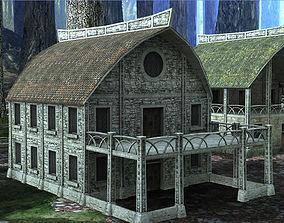 Elven Houses 2 3D model