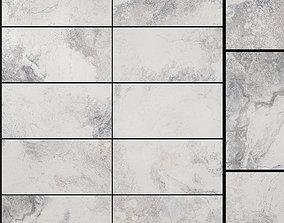 3D Yurtbay Seramik Bizantino Bianco 300x600 Set 1
