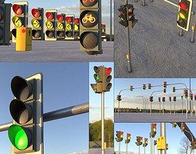 Animated Traffic Lights Construction Kit 3D model
