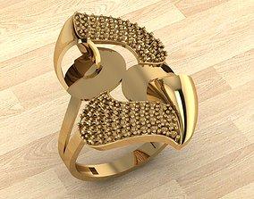 gold printable Ring 1 3D print model