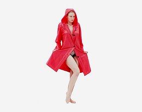 Raincoat 008 3D asset