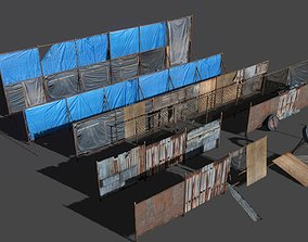 Fences pack 3D asset VR / AR ready