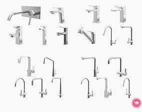 3D Fixtures - Kitchen Bathroom Faucet Pack A-D