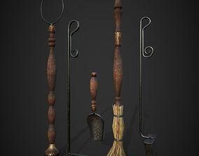 3D asset fireplace tools