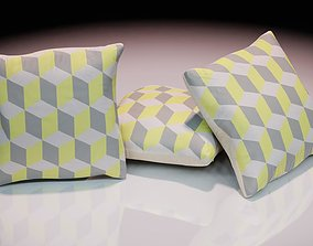 Contemporary colourful cushion design 3 3D model