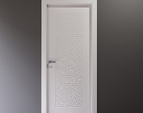 3D White curly interior door with arabic pattern