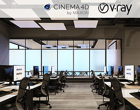 3D model VRay - C4D files - Office Space 2
