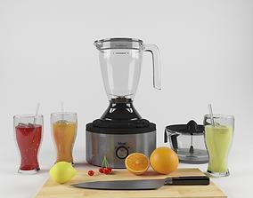 Mixer and juicer 3D model