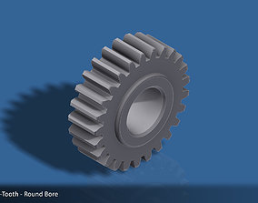 25-Tooth Spur Gear 03 3d 3D print model