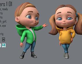 3D asset Characters kids 1 01