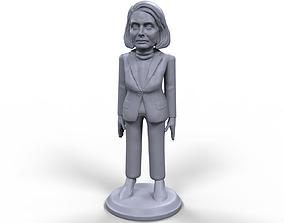 Nancy Pelosi stylized high quality 3D printable miniature