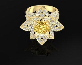 1588 Lotus diamond Ring 3D printable model