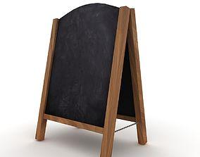 3D model Wooden Sandwich Board