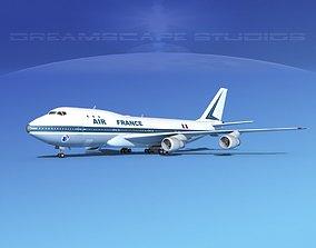 Boeing 747-100 Jumbo Jet Air France 1 3D model