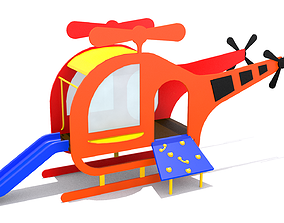 3D model Helicopter Playground