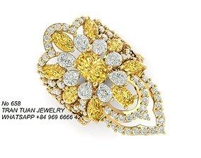 658 Diamond Ring 3D print model