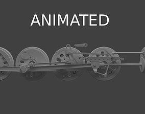 3D model Wheel mechanism
