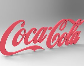 3D asset realtime Low Poly Coca Cola Logo