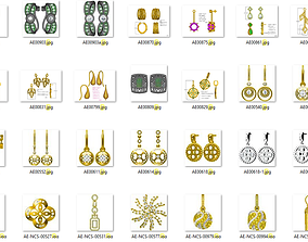 2500 Women Earrings jcd jewelcad model