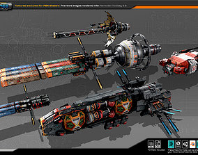 3D asset Spaceships Vol-09