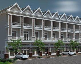 3D flat house 10 units architect